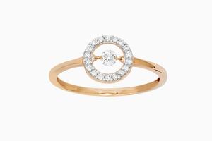 bague princesse diamants or rose