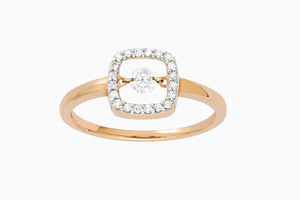 bague diamants allure or rose