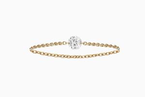 bague brio diamant solitaire or rose