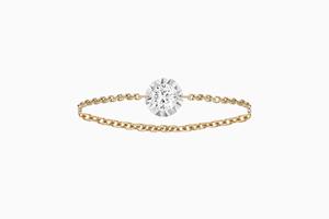 solitaire diamant bague miroir or rose