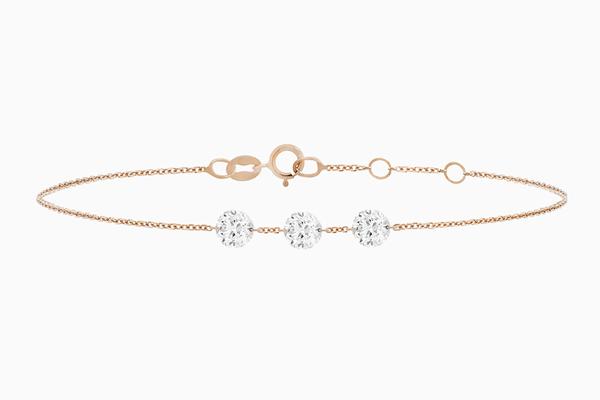 bracelet diamants Brio Trilogie or rose